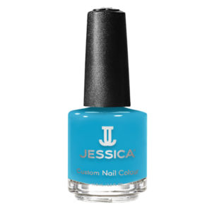 jessica blazing blue nail polish